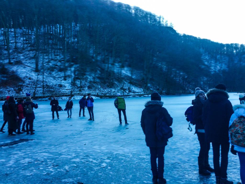 frozen lake in Söderåsen National Park, Sweden