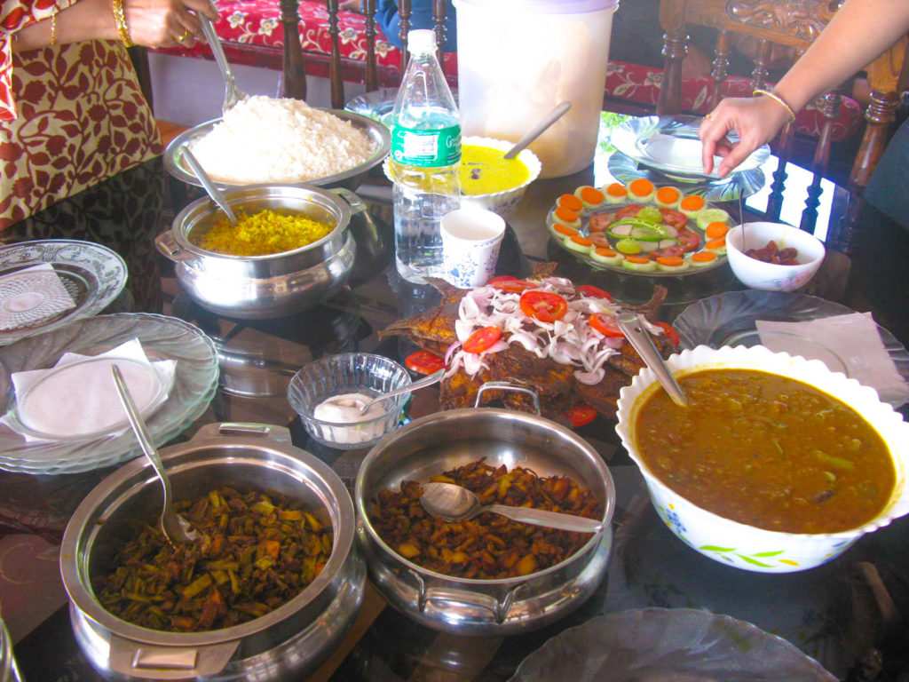 Kerala cuisines on house boat