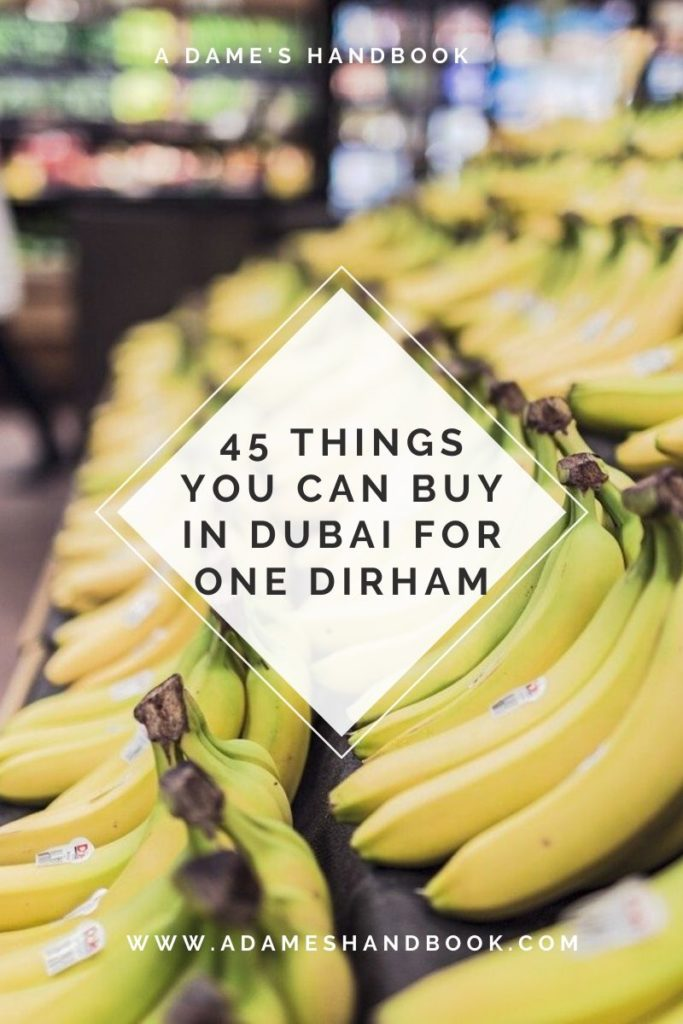 Things You Can Buy For One Dirham