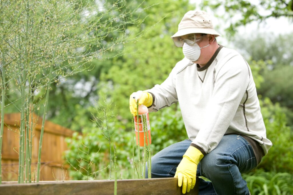 Use of pesticides on your garden