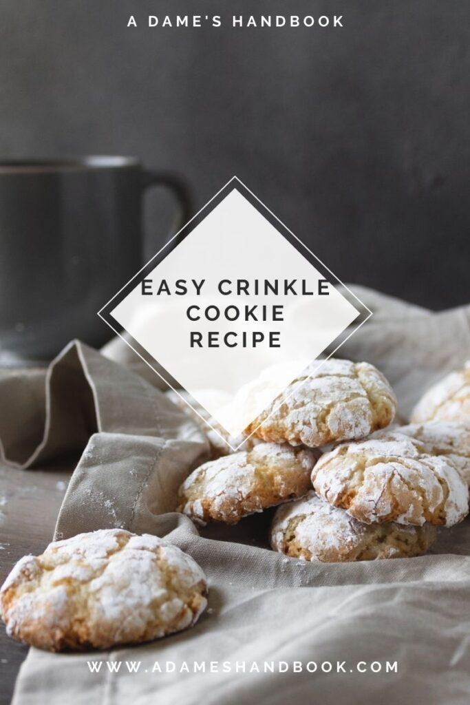 Easy crinkle cookies recipe